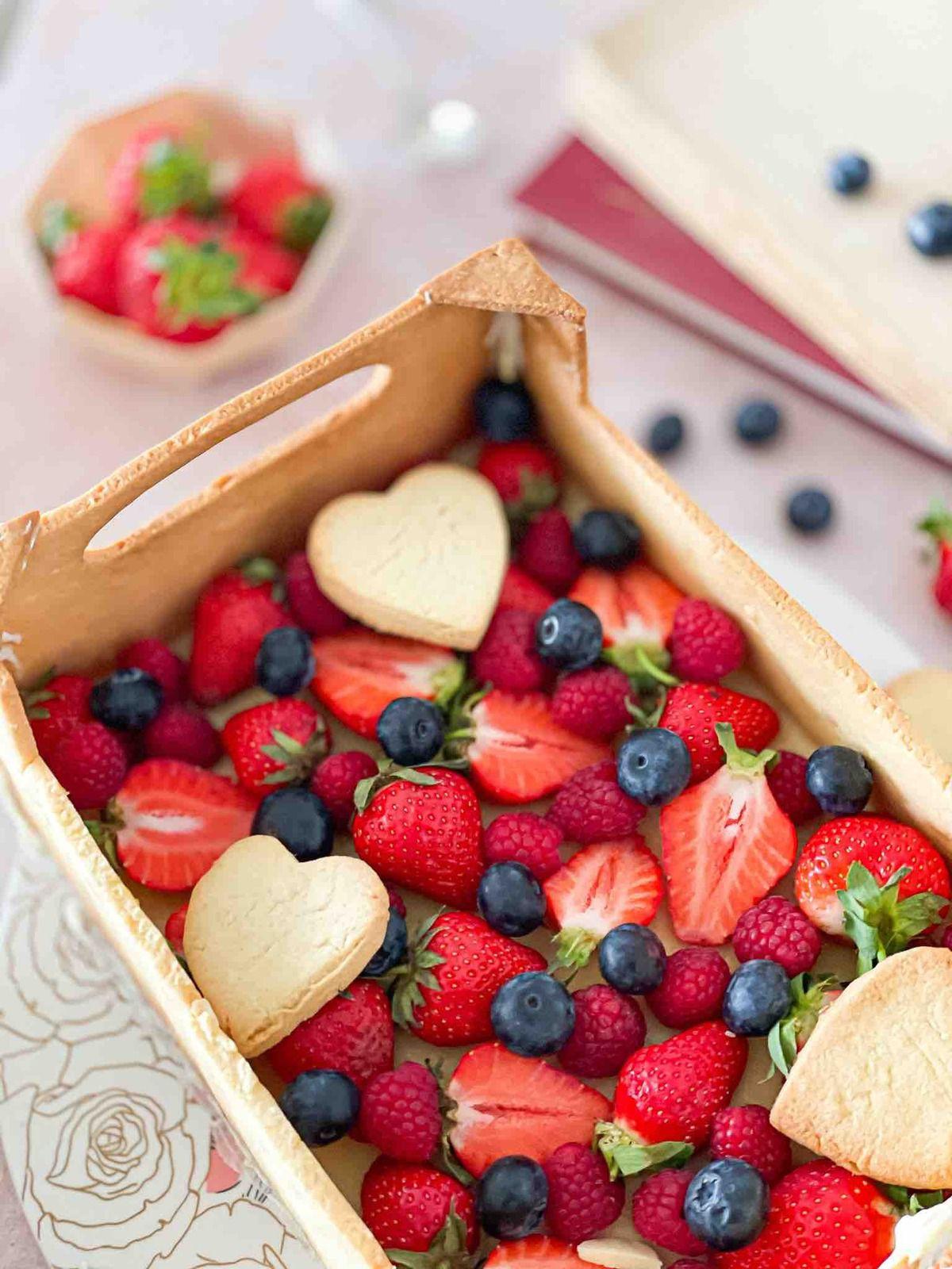 Tarte cagette aux fruits rouges