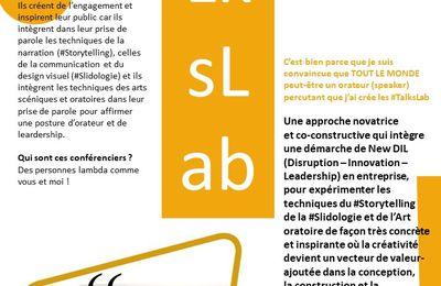 #TalksLab, l'approche New DIL des #PrésentationsOrales pour un maximum d'impact ! Demandez le programme !