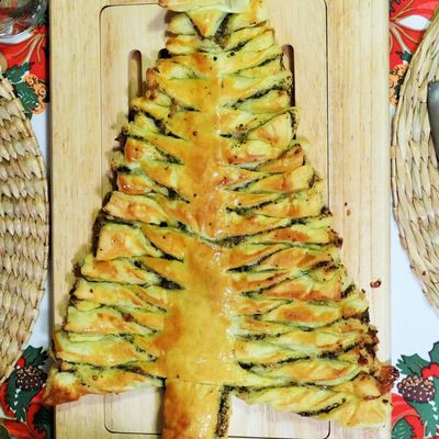 Sapin feuilleté/ Puff pastry Christmas tree