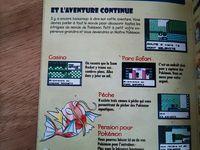 La notice très colorée et incroyablement illustrée d'un jeu Pokemon sur game boy