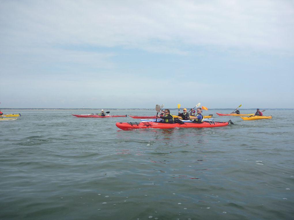 Photos du séjour du club de kayak de Six Fours (83) sur le Bassin d'Arcachon du 12 au 15 mai 2010