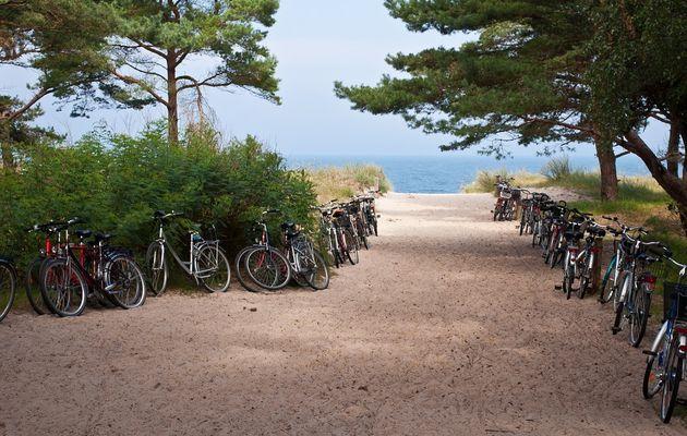 Ptit'dej vélo sur la plage de Sauveterre à Olonne sur mer
