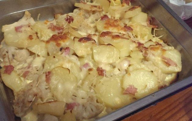Gratin de chou fleur, patates