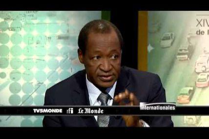 Compaoré - L'objectif c'est que les rebelles participent à la gouvernance malienne
