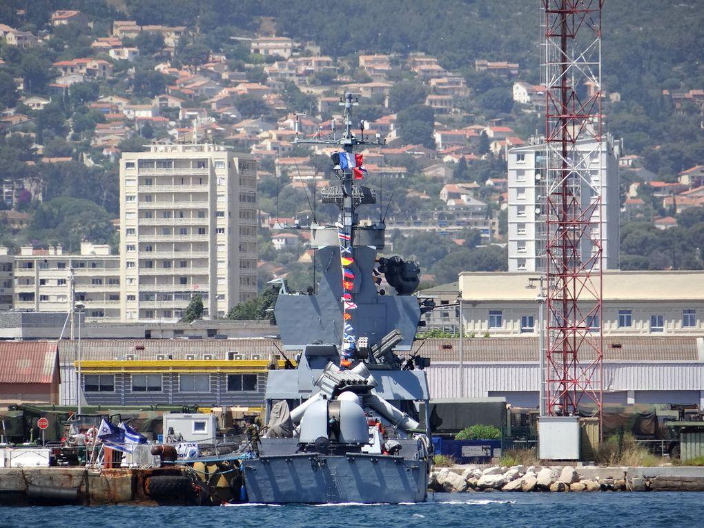 KIDON , patrouilleur de la marine israelienne a quai dans la base navale de Toulon 22 juin 2018