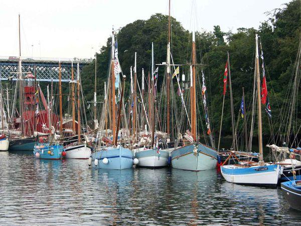 244 - Temps Fêtes, Port-Rhu, Festival maritime du 24 au 27 juillet 2014 à Douarnenez,  des centaines de voiliers traditionnels... Finistère en Bretagne.