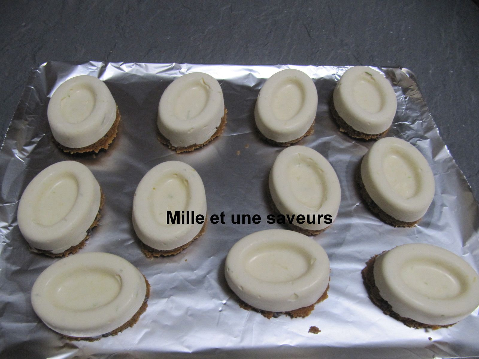Mini cheese cake fruit de la passion sans cuisson, moule individuel savarin