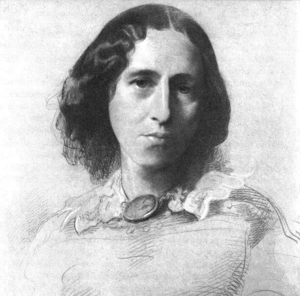 George Eliot (Mary Ann Evans) by Samuel Lawrence