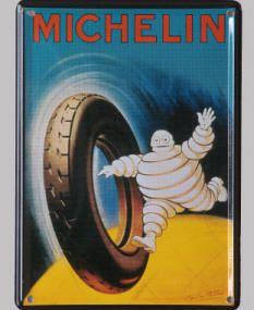Mini carte métal magnet bib pneu poids lourd.