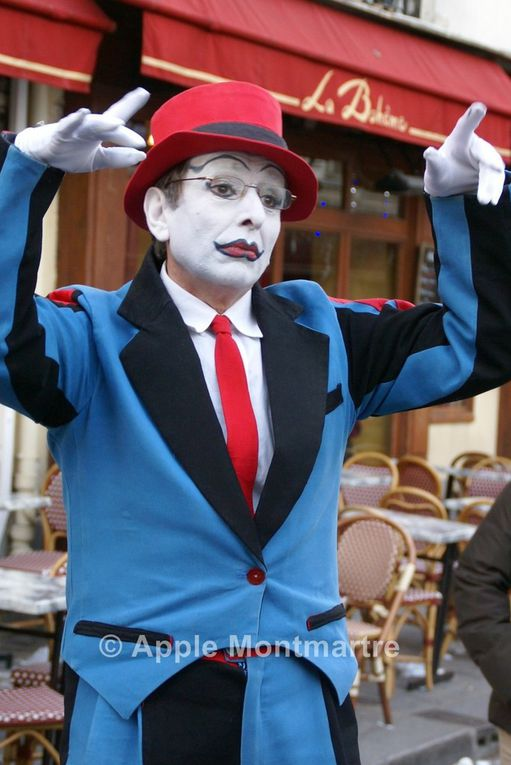 Mime Paul à Montmartre