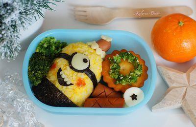 Bento n°112 - Bento minion déguisé en père Noël !