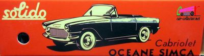 SIMCA OCEANE CABRIOLET 1959 REEDITION SOLIDO 1/43.