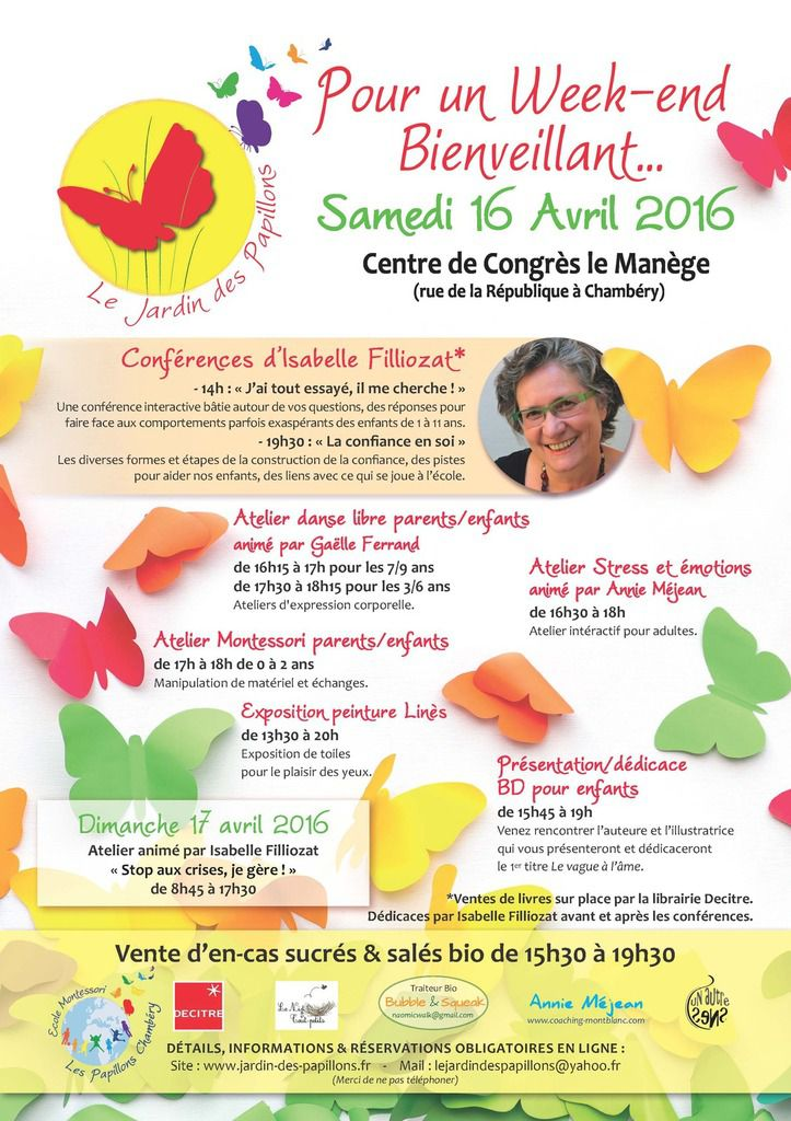 WEEK-END CONFERENCES ET ATELIERS BIENVEILLANCE ET PARENTALITE POSITIVE