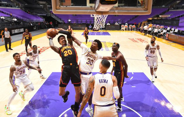 Les Hawks d'Atlanta s'imposent chez les Los Angeles Lakers