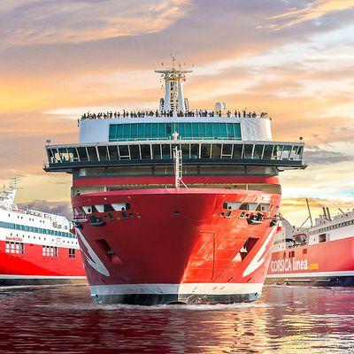 Gagnez en visibilité sur la Corse ; affichez-vous dans les bateaux de Corsica Linea  !