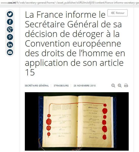 France : coup de canif dans le contrat moral des Droits de l'Homme