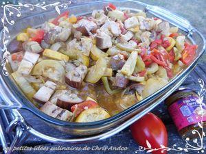 Poulet au curry et légumes du soleil