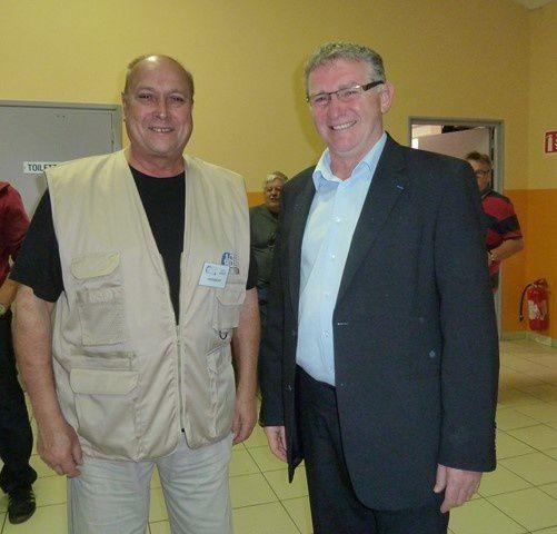 le staf ASOR Erstein et ses invités M.Denis Schultz, conseiller départemental