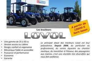 Les tracteurs Lovol vendus par Eurotek