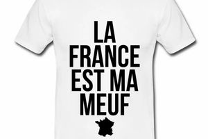 T shirt France Humour La France est ma meuf HBL