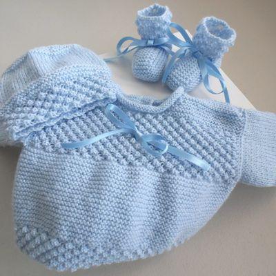 tricot bebe, brassiere bb,  tricot laine bébé fait main