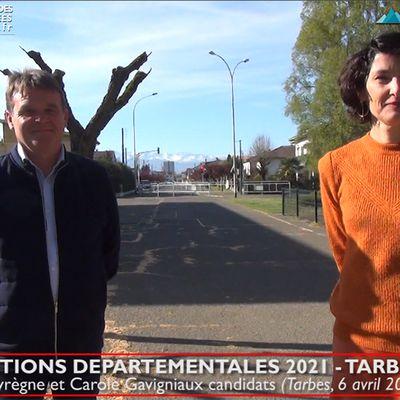 Départementales 2021 à Tarbes :: Carole Gavigniaux et Eric Peyrègne candidats sur Tarbes 1