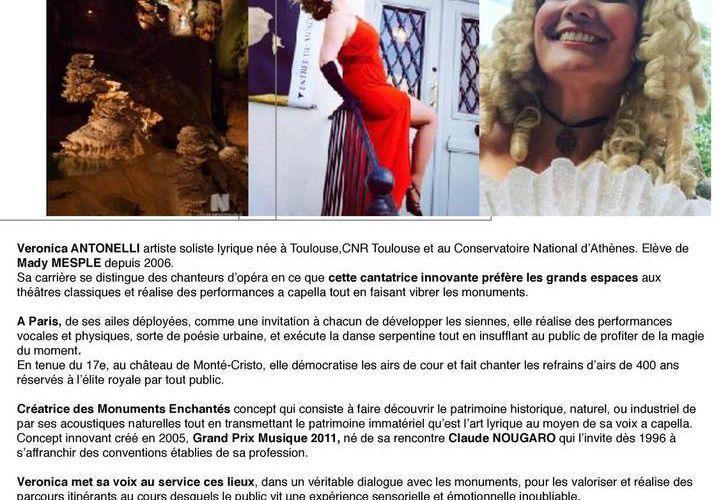 Veronica Antonelli la Diva des Monuments Enchantés