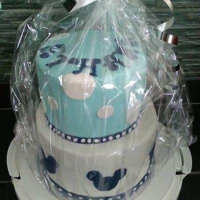 Molly cake 2 étages ganache chocolat Mickey Pour le Baptême d'Ethann