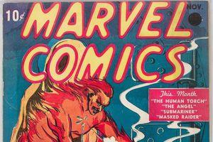 Un exemplaire du premier comic Marvel bat les records aux enchères