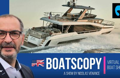 BoatScopy Prestige X70 - Presentation of the concept behind this very innovative motoryacht