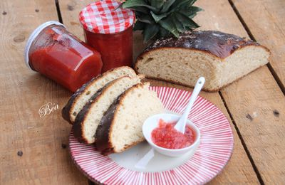 Confiture ananas fraises - Balade lozérienne à Massegros et à Saint Rome de Dolan, le Point Sublime