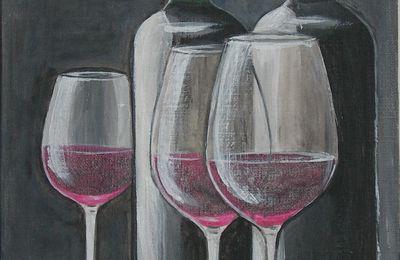 nature morte, le vin