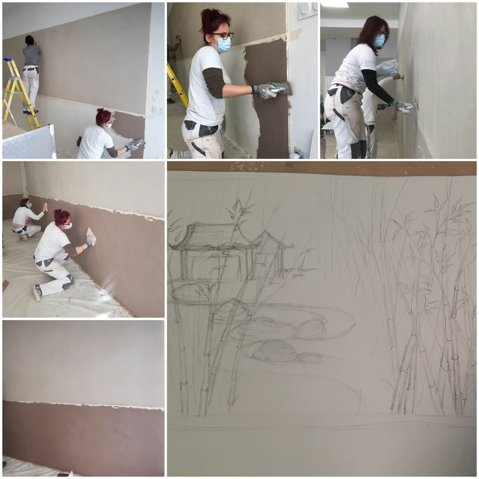 Créartaly, fresque