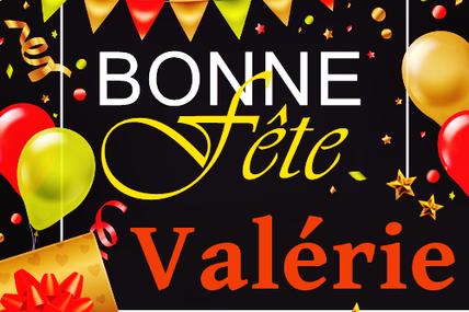 En ce 28 avril, nous souhaitons une bonne fête à Valérie
