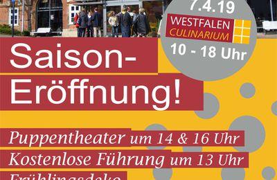 Saisoneröffnung der vier Museen des Westfalen Culinariums in Nieheim 07.04.2019