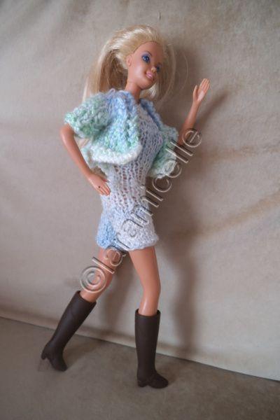 tutos gratuits barbie : combishort et sa veste à pans