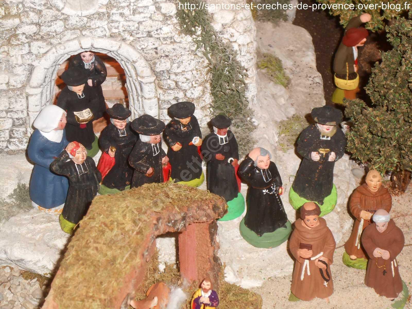 Sortie de la messe le jour de Noël