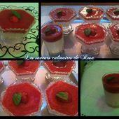 Panna cotta à la noix de coco, citron vert et gelée de fraise - Les saveurs culinaires de Rosa