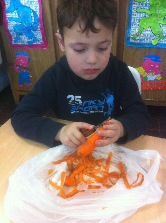 Le gâteau aux carottes des élèves de grande Section