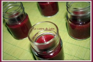Compote pommes et fruits rouges (thermomix)