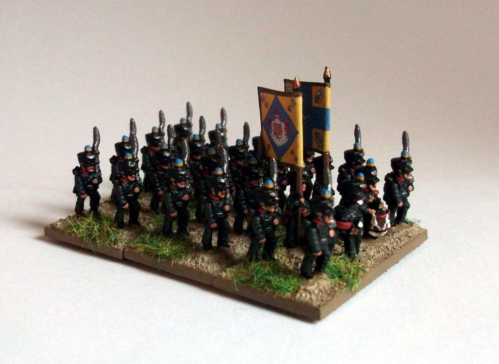 Waterloo 2015 : L'infanterie du Duc de Brunswick.