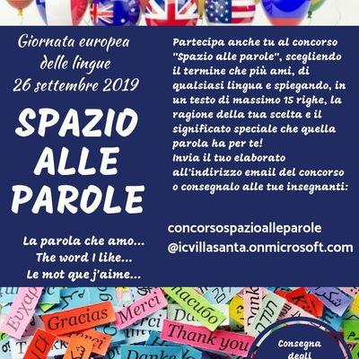 """Journée européenne des langues: concours """"Spazio alle parole"""""""