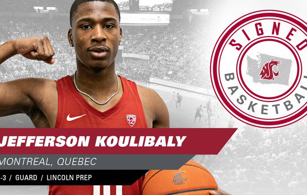 NCAA : le meilleur lycéen du Canada Jefferson Koulibaly rejoint officiellement les Cougars de Washington