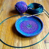Crochet Coiled Basket Experiment