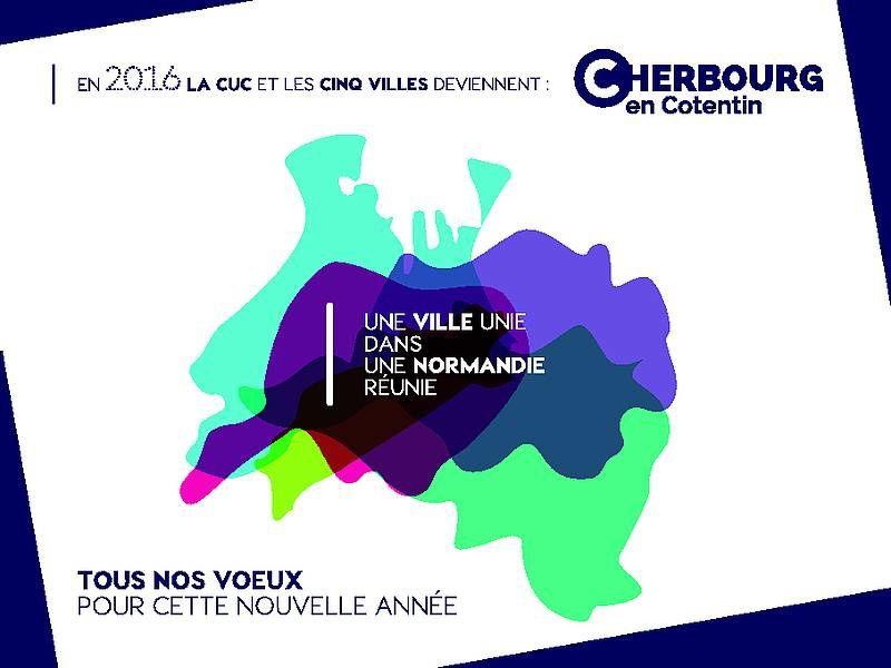 Cherbourg-Octeville devient Cherbourg-en-cotentin le 1er janvier 16 !