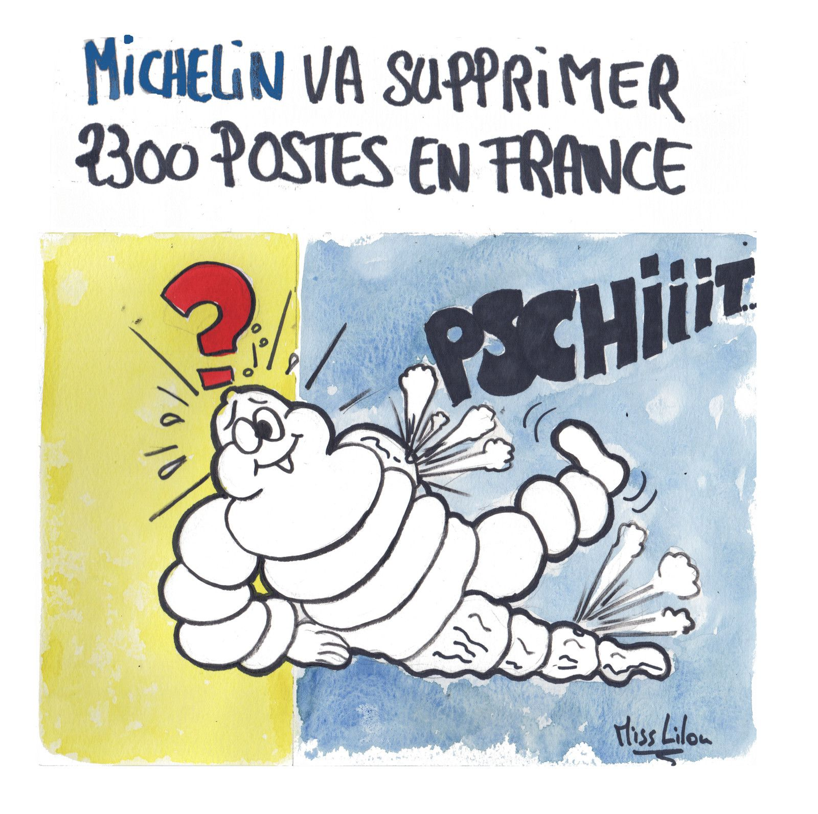 """Michelin va supprimer 2300 postes en France"""