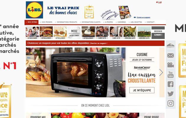 Grande distribution : LIDL meilleure chaine de magasins en France pour 2016-2017