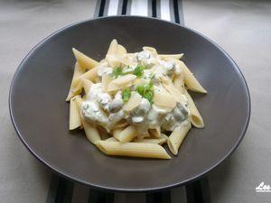 Recette : Pasta vegetarienne express (penne, champignons et fromage)