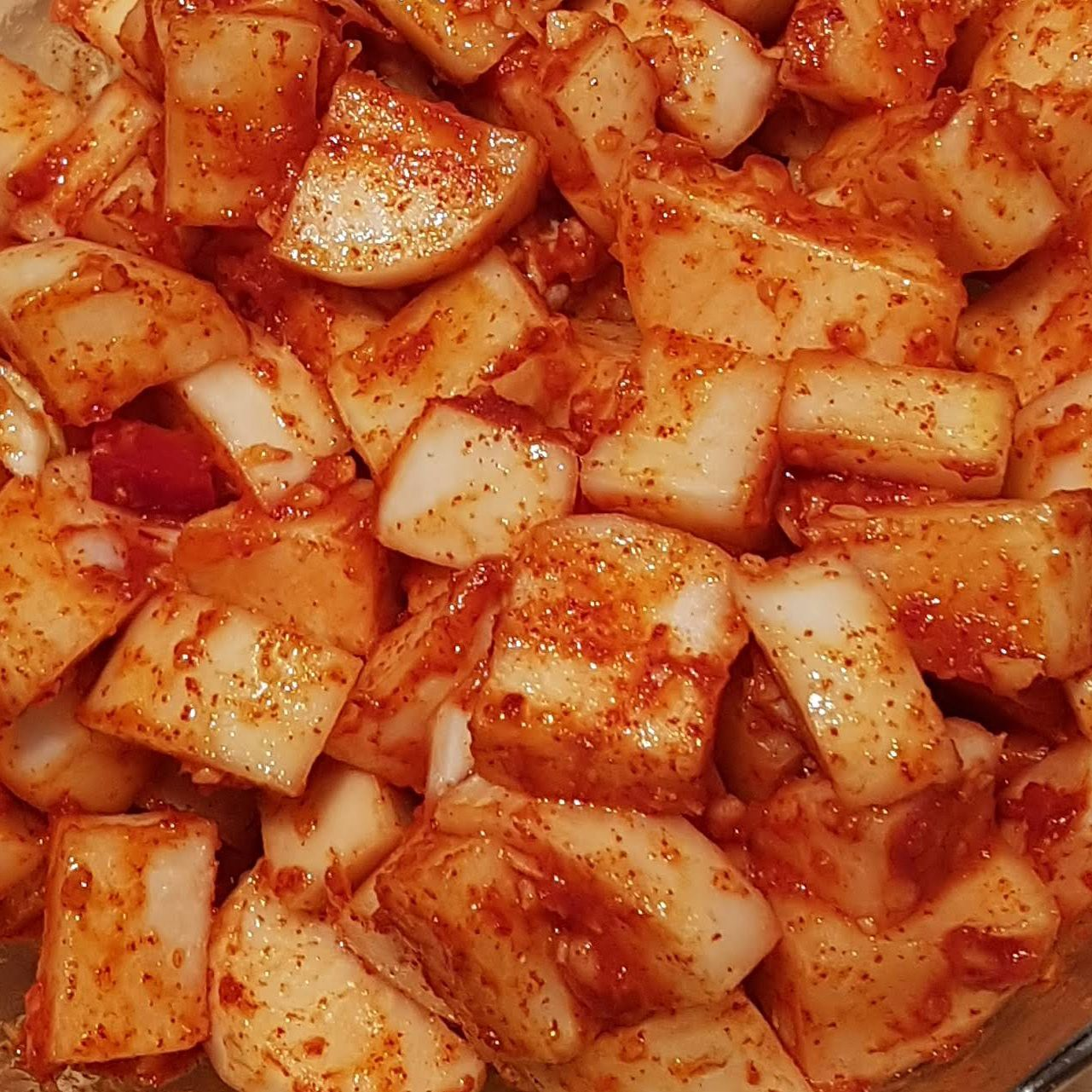 Kimchi, radis, cuisine, recette, Corée, fermentation, lacto-fermentation, légumes fermentés