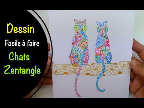 Dessiner des Chats Zentangle par Sam du blog Art et Tuto